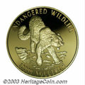 Bhutan: , Bhutan: Gold 10,000 Ngultrum 1996, Endangered Wildlife, choiceProof, not currently listed in KM or Friedberg.. From the MorrisGe...