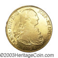 Bolivia: , Bolivia: Carlos IV gold 8 Escudos 1798-PP, KM81, XF with considerable mint luster, obverse scratch in the left field and numerous sma...
