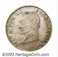 Bolivia: , Bolivia: Republic. 4 Soles 1857-P La Paz, KM130, XF+, lightly toned, crudely produced but exceptionally nice for this La Paz coinage ...