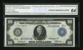 Fr. 940 $10 1914 Federal Reserve Note CGA Choice Uncirculated 64
