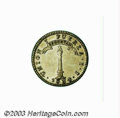 Chile: , Chile: Republic. 1 Real 1834-IJ, KM91, AU, a superb little coinwith light attractive toning over full mint luster. The strike isv...