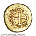 Colombia: , Colombia: Felipe V gold Cob 8 Escudos, KM24, (1744-1746), VF+,slightly double-struck on the obverse. 26.9 grams. Obverse: Crownedcoa...