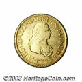 Colombia: , Colombia: Ferdinand VI gold 2 Escudos 1758-J Popayan, KM30.2, mint name PN. AVF, lightly cleaned long ago and now with toning in the p...