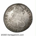 Colombia: , Colombia: Ferdinand VII 8 Reales 1814P-JF, KM71, VF-XF, abeautifully toned coin with bold details and glossy surfaces, veryrare and ...
