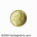 Colombia: , Colombia: Ferdinand VII gold Escudo 1819/8-NR-JF, KM64.1, unlistedand very obvious overdate. Nearly XF with luster traces in thelege...
