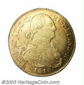 Colombia: , Colombia: Ferdinand VII gold 4 Escudos 1818NR-JF, KM72, raretwo-year type for the NR mint. XF, some light surface marks, butvery att...