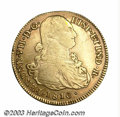 Colombia: , Colombia: Ferdinand VII gold 8 Escudos 1810-P-JF, KM66.2, Popayan mint, VF, nicely toned and very attractive. ...