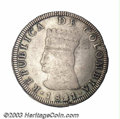 Colombia: , Colombia: Republic. 8 Reales 1821-JF, KM6, type without the Bogotamintmark, AVF, a nice example of this crude coinage with strongle...
