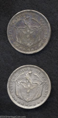 Colombia: , Colombia: Republic. Peso 1866 Bogota, KM139.1 - two pieces: Choice VF and nicely toned VF - two very collectible examples of this Lati... (Total: 2 coins Item)