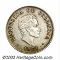 Colombia: , Colombia: Republic. 50 Centavos 1931 No B, KM193.1, VF-XF, lightlytoned and attractive, very scarce date and one of the key coins to...