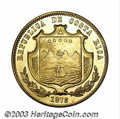 Costa Rica: , Costa Rica: Republic. Gold 20 Pesos 1873, KM119, FR-17, UNC, afantastic coin with beautiful details and full brilliant prooflikemint l...