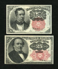 Fractional Currency:Fifth Issue, Fr. 1266 10c Fifth Issue Gem New. Fr. 1308 25c Fifth Issue Choice New.. ... (Total: 2 notes)
