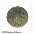 German States:Bremen, German States: Bremen. Pattern 2 1/2 Schwaren 1797, KM-Pn37, type of KM220 struck in SILVER. Choice Toned XF and rare....