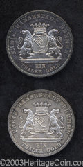German States:Bremen, German States: Bremen. Taler 1871B, KM249, two pieces: Prooflike UNC, deeply toned and UNC, light toning. Victory over France, Peace of 187... (Total: 2 coins Item)