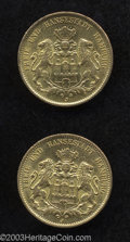 German States:Hamburg, German States: Hamburg. Gold 20 Mark Duo, KM295, 1899J XF and 1900J, XF.... (Total: 2 Coins Item)