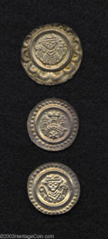 German Lots: , German Lots: A nice Bracteate trio including: Bishopric of Constance, Eberhard II ND (1248-1274), 20.5 mm, Facing bust holding a lily sta... (Total: 3 coins Item)