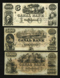 Obsoletes By State:Louisiana, New Orleans, LA- Canal Bank $100; $500; $1000 18__. ... (Total: 3 notes)