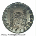 Mexico: , Mexico: Ferdinand VI Pillar 8 Reales 1756-MM, KM104.2, XF+, achoice coin with bold details and very attractive toning....