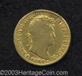 Mexico: , Mexico: Ferdinand VII gold Escudo 1814-HJ, KM122, scarce type.Nearly Fine, not damaged, just a well worn piece and slightly bentat...