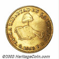 Mexico: , Mexico: Republic. Gold 4 Escudos 1868-Mo-PH, KM381.6, VF-XF, a veryattractive coin with light toning and glossy surfaces.. Fromt...