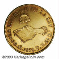 Mexico: , Mexico: Republic. Gold 8 Escudos 1859-Mo-FH, KM383.9, XF+, verybold strike and with attractive old-time toning. Very scarcedate!...