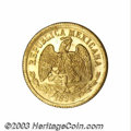 Mexico: , Mexico: Republic. Gold 10 Pesos 1894-As-L, KM413, choice prooflikeUNC with a just the slightest planchet lamination on thereverse....