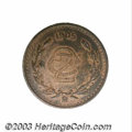 Mexico: , Mexico: Republic. 2 Centavos 1905, KM419, XF-AU, glossy brownsurfaces with just a few light surface marks on the reverse. Thekey d...