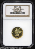Proof Liberty Half Eagles: , 1897 $5 PR64 Ultra Cameo NGC. The 1897 is not an issue ...