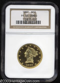 Proof Liberty Eagles: , 1897 $10 PR64 Cameo NGC. One person has consigned to this ...