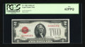 Small Size:Legal Tender Notes, Fr. 1502 $2 1928A Legal Tender Note. PCGS New 62PPQ.. ...