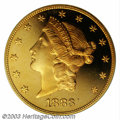 Proof Liberty Double Eagles: , 1883 $20 PR65 Deep Cameo PCGS. On average only one 1883 ...
