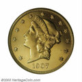 Proof Liberty Double Eagles: , 1907-D $20 PR62 NGC. Ex: Farouk. Only one branch mint ...