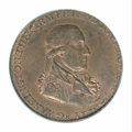 Colonials: , 1795 1/2P Washington Grate Halfpenny, Large Button, ...