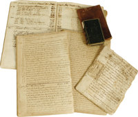 Bernard Family Slavery Archive. A large and important group of approximately 550 manuscripts, documents, and letters, to...