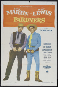 """Pardners (Paramount, 1956). One Sheet (27"""" X 41""""). Starring Dean Martin, Jerry Lewis, Lori Nelson, Jackie Loug..."""