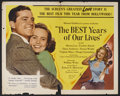 """Movie Posters:Drama, Best Years of Our Lives (RKO, 1946). Half Sheet (22"""" X 28"""") Style A. Drama. Starring Myrna Loy, Fredric March, Dana Andrews,..."""