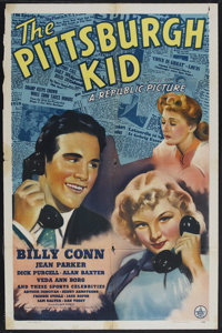 "The Pittsburgh Kid (Republic, 1941). One Sheet (27"" X 41""). Sports/Drama. Starring Billy Conn, Jean Parker and..."