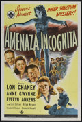 "Movie Posters:Mystery, Weird Woman (Universal, 1944). One Sheet (27"" X 41"") SpanishLanguage. Horror. Starring Lon Chaney, Anne Gwynne and Evelyn A..."