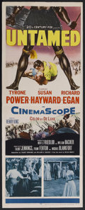 "Movie Posters:Adventure, Untamed (20th Century Fox, 1955). Insert (14"" X 36""). Adventure.Starring Tyrone Power, Susan Hayward, Richard Egan, Agnes M...(Total: 2 Items)"