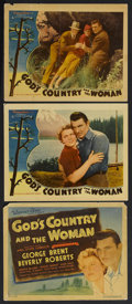 """Movie Posters:Romance, God's Country and the Woman (Warner Brothers, 1937). Title LobbyCard (11"""" X 14"""") and Lobby Cards (2) (11"""" X 14""""). Drama/Rom...(Total: 3 Items)"""