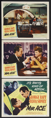 "Mr. Ace (United Artists, 1946). Title Lobby Card (11"" X 14"") and Lobby Cards (2) (11"" X 14""). Drama..."
