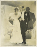 "Movie/TV Memorabilia:Autographs and Signed Items, Signed Photo of Fred Astaire and Ginger Rogers. This charming photoof the legendary dance couple (8"" x 10"") bears the ink s..."