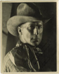 "Movie/TV Memorabilia:Autographs and Signed Items, Autographed Photo of William S. Hart. This superb 8"" x 10"" portraitof the Screen's first great cowboy star is inscribed in ..."