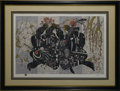 Prints:Contemporary, JIANG TIE FENG (Chinese, b. 1938). Women in Landscape. Colorserigraph 21/40. Signed to lower right. Matted, framed and unde...