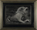 Prints:Contemporary, TESS NELSON. Lion and cub. Signed to lower left. Framed andunder glass. 15-1/4in. x 20-1/4in.. ...