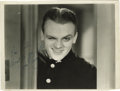 """Movie/TV Memorabilia:Autographs and Signed Items, James Cagney Signed Photo. A b&w 8"""" x 10"""" glossy of Cagneycirca the '30s, inscribed and signed by him in blue ink. In Very..."""