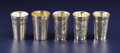 Silver Holloware, Continental:Holloware, A Group of Five Continental Silver Wine Cups. Various makers,Continental. Early Twentieth Century. Silver and silver gilt...(Total: 5 )