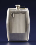 Silver & Vertu:Hollowware, An English Silver Flask. Unknown maker, England. Circa 1930-1940. Silver. Marks: STERLING 856, 3/4 PINT. 8.38 inches ...