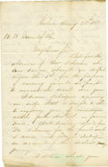 "Autographs:Inventors, Samuel Remington Autograph Letter Signed ""S. Remington"".Three pages, 8"" x 5.25"", January 25, 1858, discussing $100,000 ..."