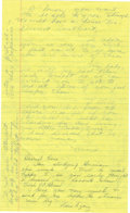 """Autographs:Celebrities, Howard Hughes Autograph Letter Signed """"Howard"""" to wife JeanPeters with reply. On January 12, 1957, and under assumed na..."""